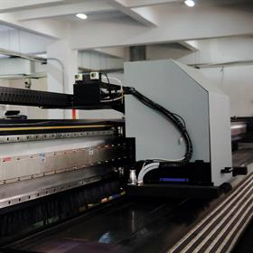 RGS40-P gold tape scale on Flora Digital linear motor setup (cropped)