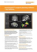 Flyer:  neuroinspire surgical planning software - key features (worldwide, excl. USA)