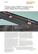 Case study: Thorlabs selects TONiC™ encoders for its motion stages after in-house testing
