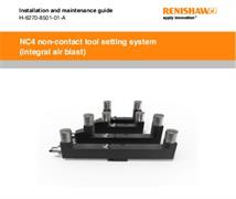 Installation and user's guide: NC4 (integral air blast) tool setting system